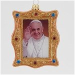 Pope Francis Gold Portrait