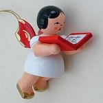 Angel with Songbook Red Wings