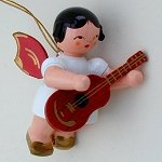 Angel with Guitar Red Wings