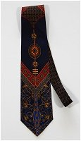 Balanced Vintage Tie in Blue, Red