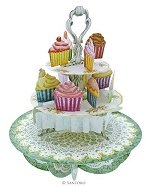 Cup-Cake Tea Time - Greeting Card
